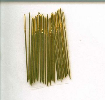 Gold Plated Cross Stitch Needles ( Loose) - Size 24